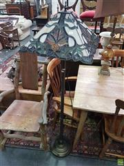 Sale 8593 - Lot 1014 - Leadlight Standard Lamp