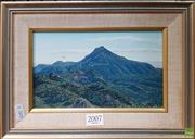 Sale 8595 - Lot 2007 - M Hadfield - Mt Wambelong 12.5 x 21cm (frame : 21.5 x 30cm)