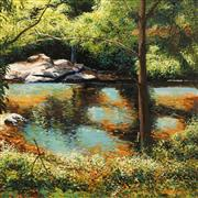Sale 8633A - Lot 5045 - Alan Purnell (1953 - ) - Rock Pool, 1987 39 x 39cm