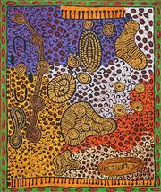 Sale 8808 - Lot 599 - Monica Napaltjarri - Tingari Women Dreaming Sites, 2007 91 x 121cm