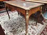 Sale 8831 - Lot 1030 - Late C19th French Kingwood and Inlaid Ladys Desk with Brass Mounts (H: 71 W: 113 D: 60cm)