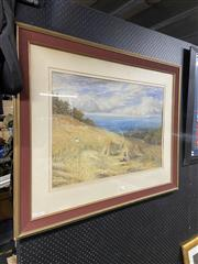 Sale 8932 - Lot 2059 - B Palmer - The Harvest and Distant View of Townwatercolour and gouache, 51 x 71cm, signed lower right