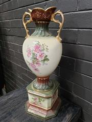 Sale 8962 - Lot 1091 - Ceramic Double Handled Vase (H:70cm)