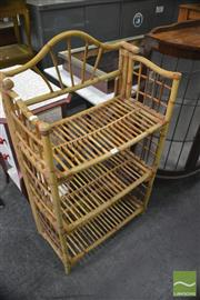 Sale 8386 - Lot 1096 - Folding Bamboo Shelving