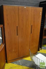 Sale 8528 - Lot 1084 - G-Plan Teak 3 Door Wardrobe