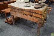 Sale 8550 - Lot 1085 - Vintage Worn Butchers Block
