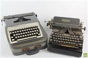 Sale 8586 - Lot 58 - Antique Royal Standard Typewriter dated 1911 with a Monarch Remington Example in Case