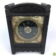 Sale 8649 - Lot 67 - Japy Freres Late C19th Black Slate & Marble Mantle Clock