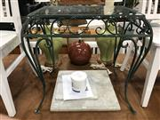 Sale 8809 - Lot 1072 - Glass Top Garden Table