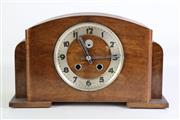 Sale 8902 - Lot 3 - An Art Deco Mantle Clock. Missing glass face