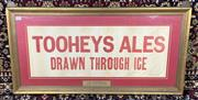 Sale 9002 - Lot 1057 - Framed Vintage Tooheys Ale Poster, minor tears (h:45 x w:89cm)