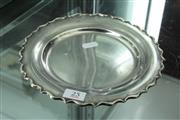 Sale 8288 - Lot 25 - Turkish Silver Salver