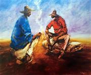 Sale 8507A - Lot 5024 - Hugh Sawrey (1919 - 1999) - Kidman Cattle Men 45 x 54cm (sheet size)