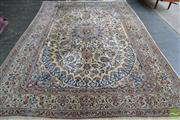 Sale 8520 - Lot 1097 - Persian Nain (370 x 250cm)
