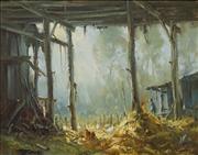 Sale 8583 - Lot 575 - Ivars Jansons (1939 - 2017) - The Old Hayshed 39 x 49.5cm