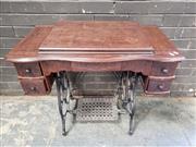 Sale 8962 - Lot 1067 - Vintage Singer Sewing Machine (H:66 x W:88 x D:48cm)