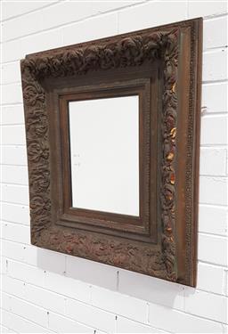 Sale 9146 - Lot 1065 - Carved timber framed mirror (65 x 76cm)