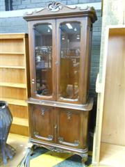 Sale 7943A - Lot 1538 - Carved Mahogany Glass Front Bookcase