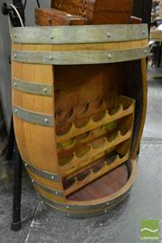 Sale 8489 - Lot 1060 - Barrell Form Wine Rack
