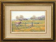 Sale 8557 - Lot 2023 - Sidney Woodward-Smith (1904 - 1972) - Afternoon Light, Emu Plains 14 x 22cm