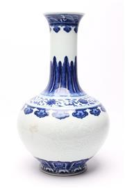 Sale 8719 - Lot 60 - Blue and White Qianlong Mark Porcelain Vase of baluster form