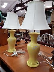 Sale 8822 - Lot 1175 - Pair of Ceramic Table Lamps