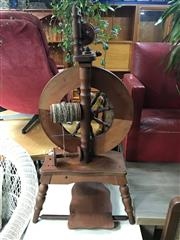 Sale 8822 - Lot 1285 - Vintage Timber Spinning Wheel