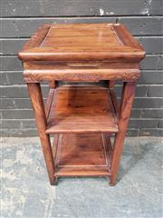 Sale 8962 - Lot 1055 - Oriental Style Three Tier Stand (H:77.5 x W:38.5cm2)