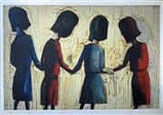 Sale 8996A - Lot 5007 - Charles Blackman (1928 - 2018) - Four School Girls 112 x 161 cm