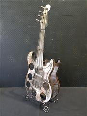Sale 9026 - Lot 1032 - Guitar Form Metal Wine Rack (h:108 x w:54cm)