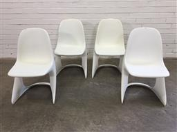 Sale 9151 - Lot 1014 - Set of 4 Casala moulded plastic chairs by Alexander Begge (h:77 x w:43cm)