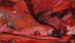 Sale 9252A - Lot 5024 - LOUISA CHIRCOP Hell Breaking Loose, 2003 oil on plywood 27 x 47 cm signed, dated and titled verso