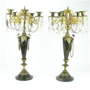 Sale 8314 - Lot 63 - Gilt Bronze Six Light Pair of Candelabra
