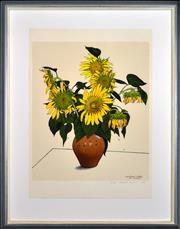 Sale 8346A - Lot 100 - David Rose (1936 - 2006) - Sunflower Study for Vincent, 1991 65.5 x 55cm