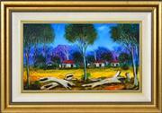 Sale 8382 - Lot 553 - Kevin Charles (Pro) Hart (1928 - 2006) - Logs in a Landscape 28.5 x 49.5cm