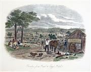 Sale 8573 - Lot 2091 - Samuel Thomas Gill (1818 - 1880) - Bendigo From Road to Eagle Hawke 16.5 x 21cm (mount size: 31.5 x 35cm)