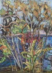 Sale 8633A - Lot 5014 - Jo Riley (Active 1975 - 1988) - Blue Lagoon, Sydney Harbour 74 x 53cm