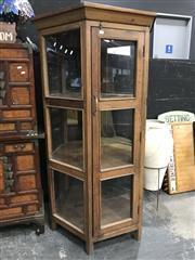 Sale 8805 - Lot 1011 - Hexagonal Display Cabinet