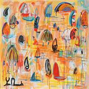 Sale 8826A - Lot 5072 - Yosi Messiah (1964 - ) - Colourful Harbour 85 x 85cm