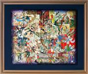 Sale 9011 - Lot 2014 - Oscar Edwards - Xmas Leprechaunes 42 x 50 cm (frame: 56 x 67 x 2 cm)
