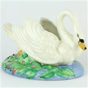 Sale 8356 - Lot 17 - Clarice Cliff Swan Posy Holder