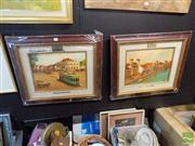 Sale 8474 - Lot 2038 - Artist Unknown (Indonesian School) (2 works) - Jakarta Scenes, 1950s 33 x 43cm, each