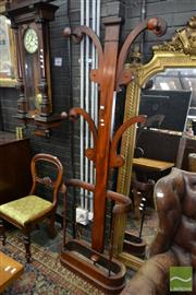 Sale 8500 - Lot 1064 - Victorian Mahogany Hall Tree with Four Branches and Open Stick Stand (part in office)