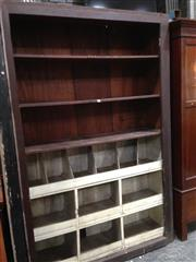 Sale 8741 - Lot 1094 - Rustic Industrial Cedar Workshop Storage/Shelving
