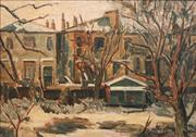 Sale 8821 - Lot 584 - Elliott Seabrook (1886 - 1950) - Buildings with Farmhouses 59 x 83.5cm