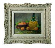 Sale 8828A - Lot 33 - Fernand Lienaux 1897-1980 French Kitchen still life canvas on board signed. -24 x 30 cm