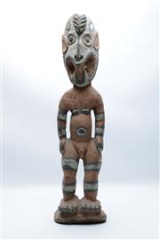 Sale 8869 - Lot 33 - Tribal Carved Timber Figure (H56cm)
