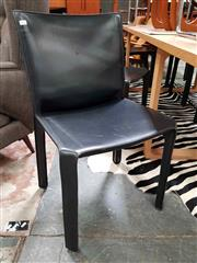 Sale 8930 - Lot 1091 - Set of 8 Leather Cassina Dining Chairs