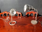 Sale 9026 - Lot 1057 - Pair Of Industrial Table Lamps (H56cm)