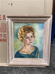 Sale 9072 - Lot 2082 - Artist Unknown - Portrait of a Woman, oil, SLL